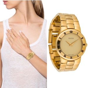001afec9868 Gucci. Authentic Vintage Gucci 3300.2.L Gold-Plated Watch